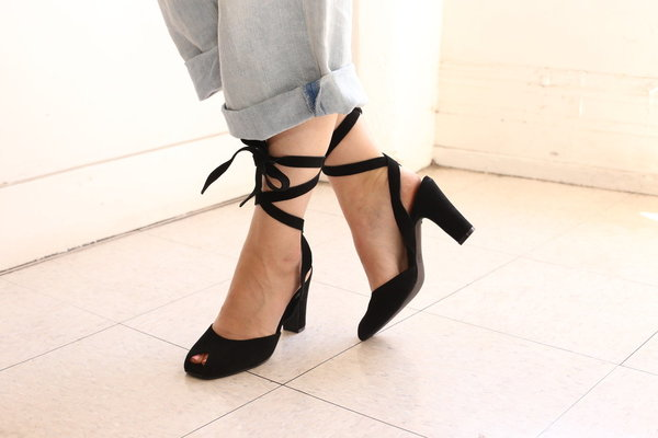 Intentionally Blank ROSE in BLACK SUEDE