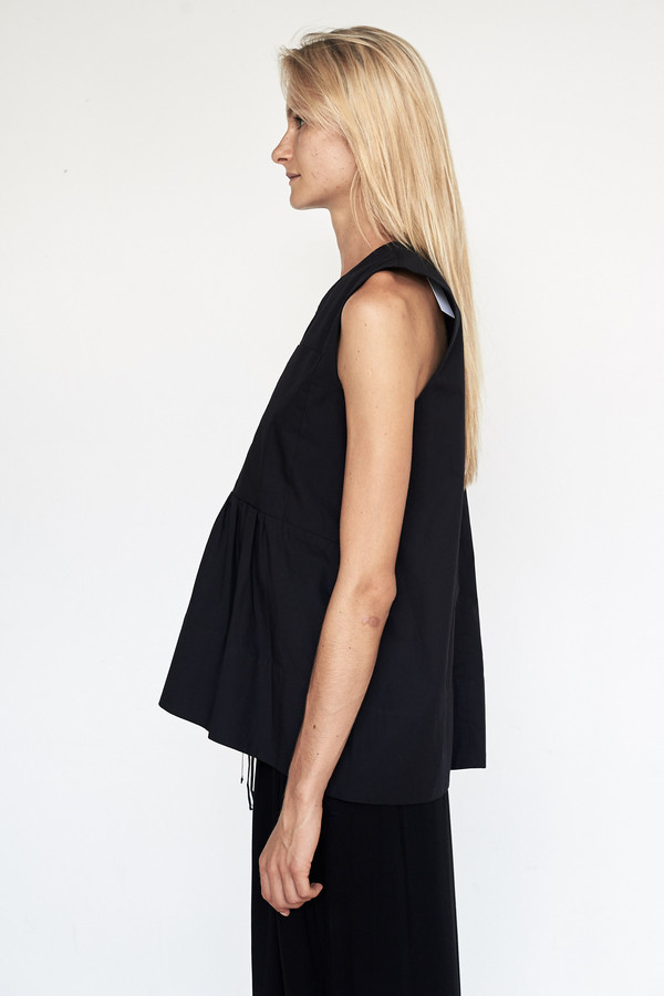 Fabiana Pigna Cotton Bessette Blouse - Black