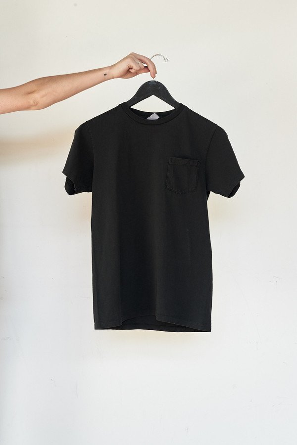 Men's Velva Sheen Cotton Pigment Pocket Tee