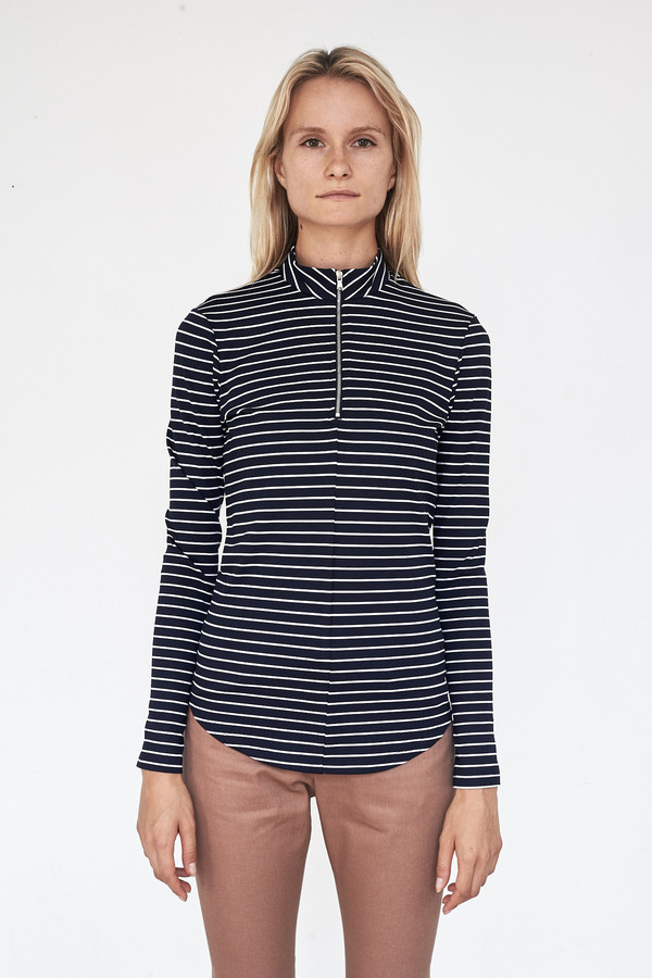 Nomia Long Sleeve Zip Mockneck