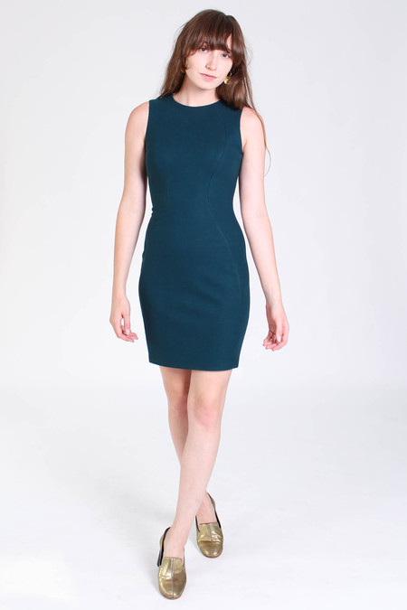 Obakki Roche dress in teal green