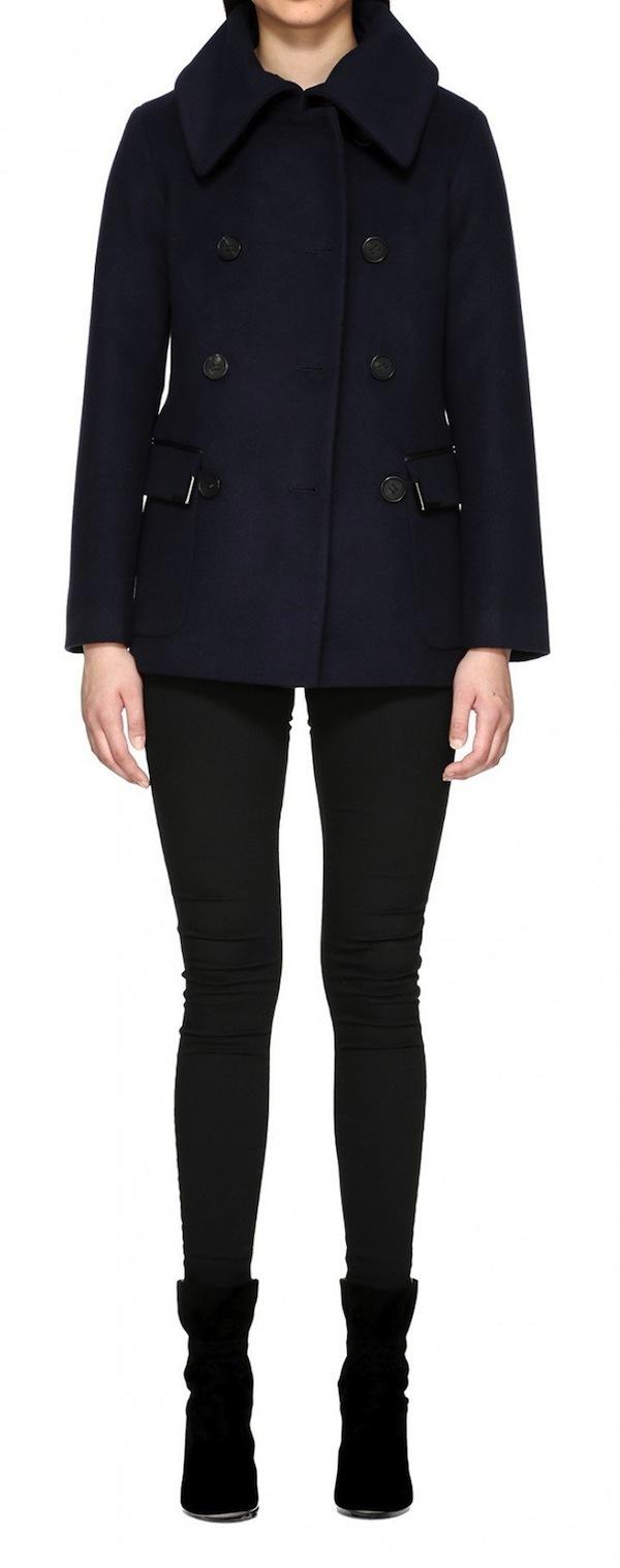 Mackage Phoebe Hip Length Flat Wool Coat