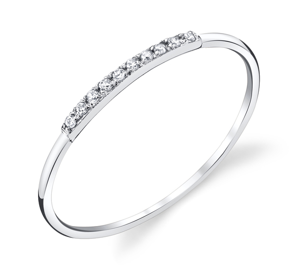 Gabriela Artigas 14K White Mini Axis Pave Ring