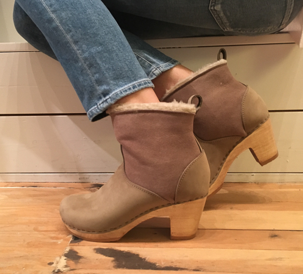 "no. 6 5"" pull on shearling boot - high heel"