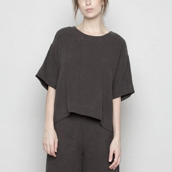7115 by szeki Relaxed Boat Neck Top
