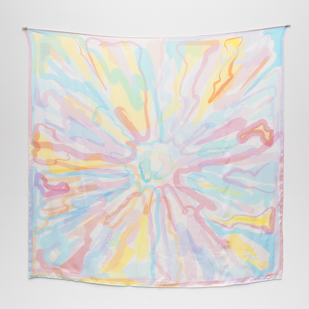 Massif Central silk satin Scarf by Peter Halley
