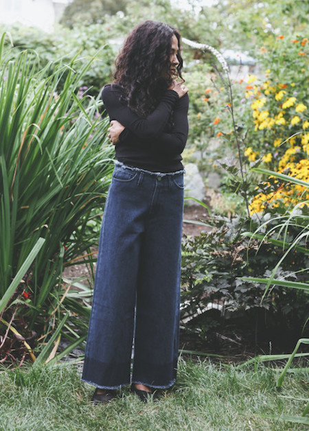 Achro - Wide Leg Fray Denim