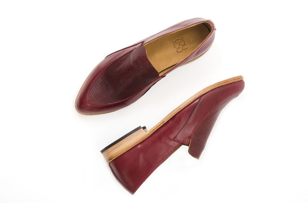 Zou Xou Loafer in Currant Snake