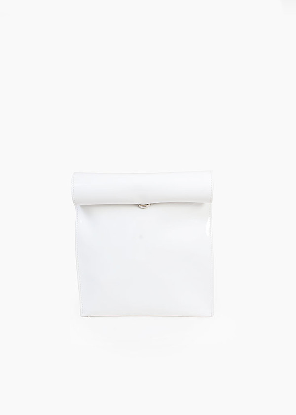 S M K - White Foldover Bag