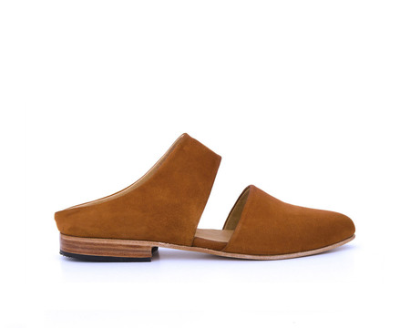 Zou Xou Mule in Burnt Sienna Suede