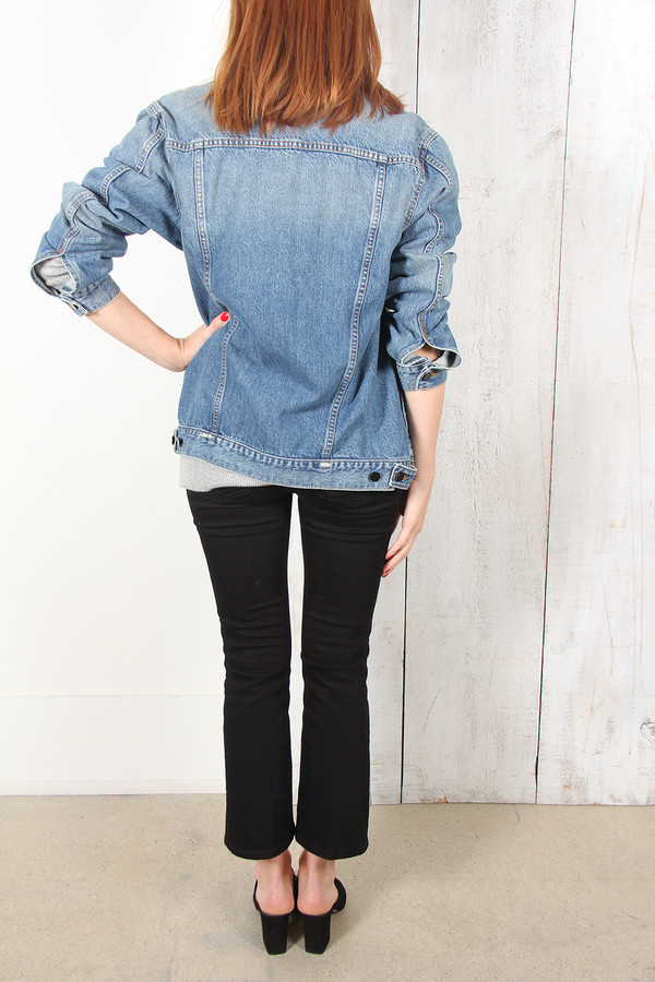 ALEXANDER WANG DAZE OVERSIZE DENIM JACKET
