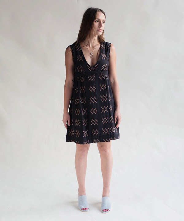 Ace & Jig Black Sampler Bedford Dress