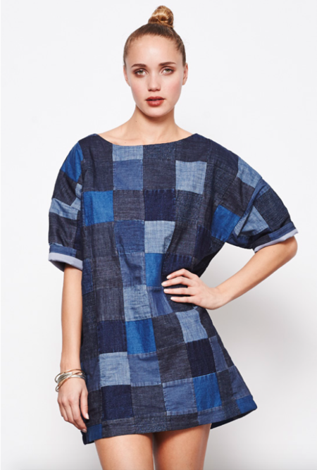 Mary Meyer Patchwork Denim Dress