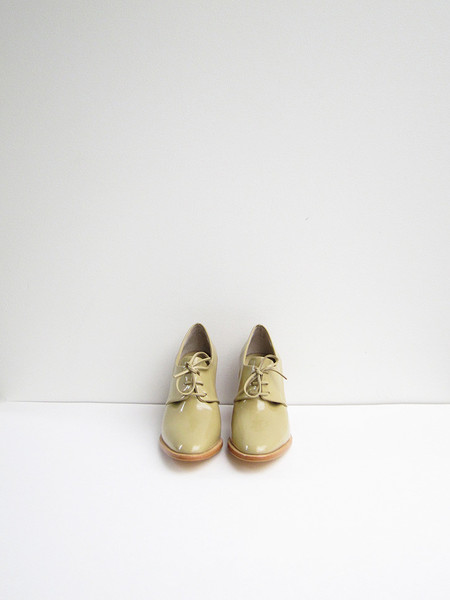 Maryam Nassir Zadeh Flavia Heeled Brogue, Camel Shine