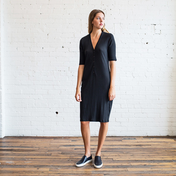 6397 Rib Henley Dress