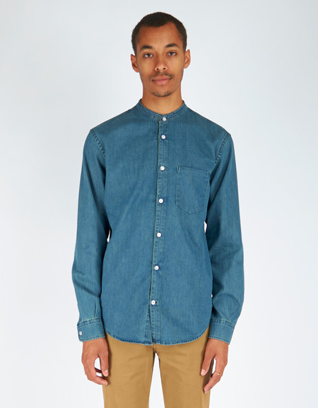 Men's No Nationality No Nationailty Devon Shirt Blue