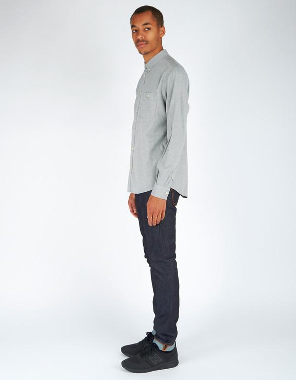 Men's No Nationality New Derek LS Flannel Shirt Grey