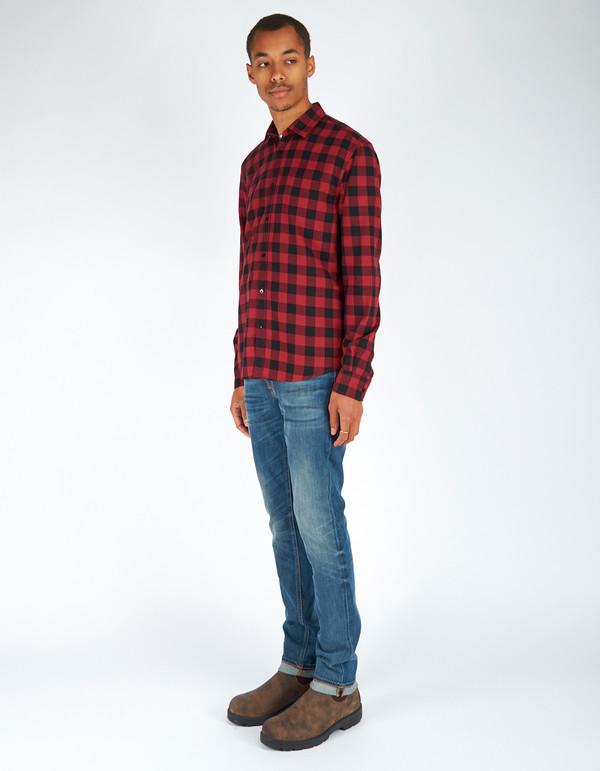 Woolrich John Rich & Bros. Buffalo Check Shirt Red Black