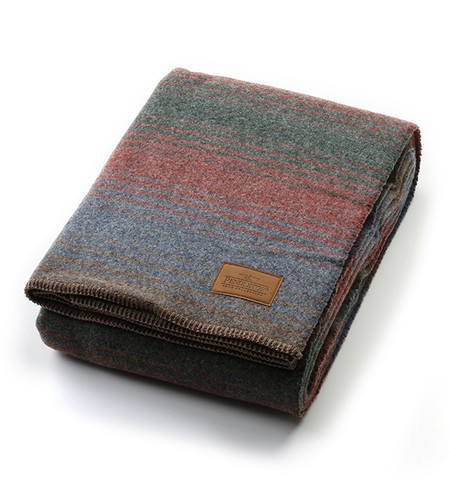 Pendleton Yakima Twin Camp Blanket in Clearwater Heather