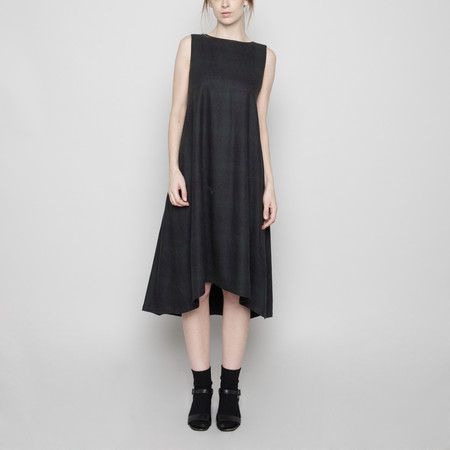 7115 by Szeki Wool Tent Dress - Faded Stripe FW16