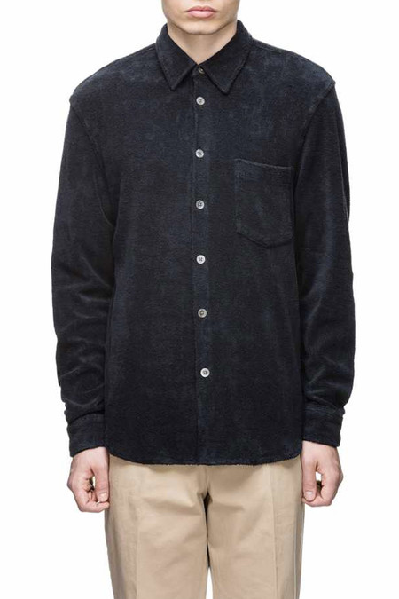 Men's Our Legacy Terry Shirt | Navy