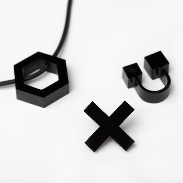 Luch Design Monochrome Cubes Ring