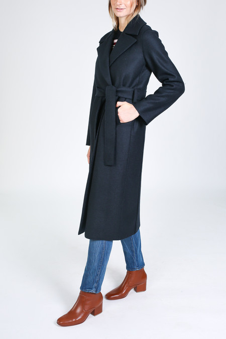 Harris Wharf London Boxy Duster Coat in dark blue