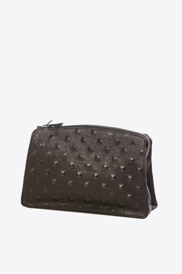 Marie Turnor Dome Clutch in black studs
