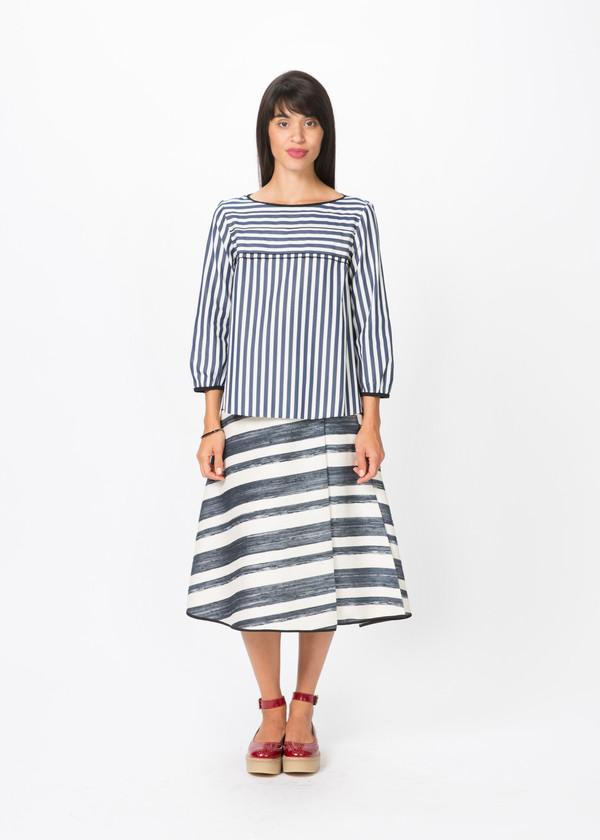 Odeeh Tiered Stripe Blouse