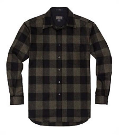 Men's Pendleton Lodge Shirt / Olive Buffalo