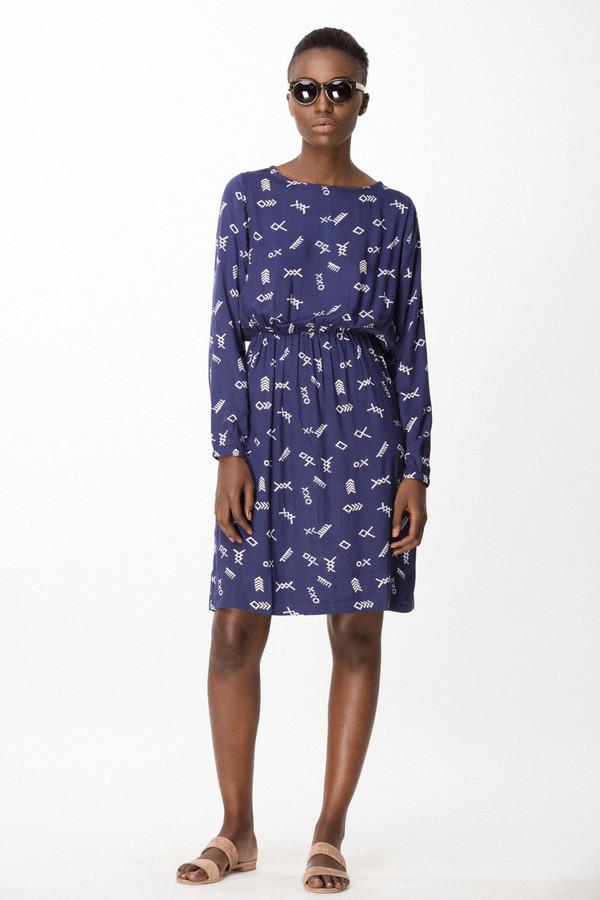 Osei-Duro Aburi Dress in Cobalt Jot