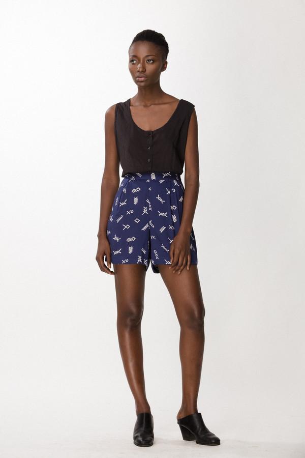 Osei-Duro Lorem Shorts in Cobalt Jot