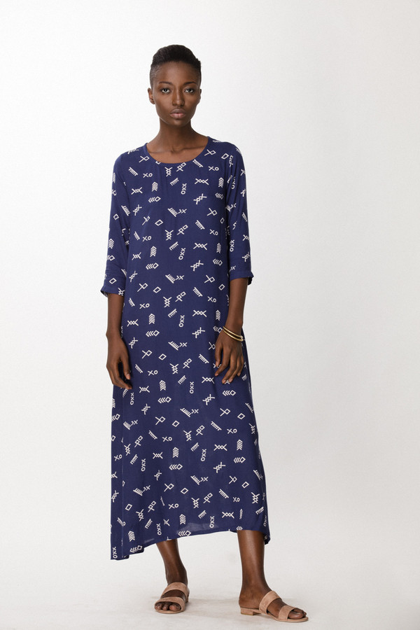 Osei-Duro Nima Dress in Cobalt Jot