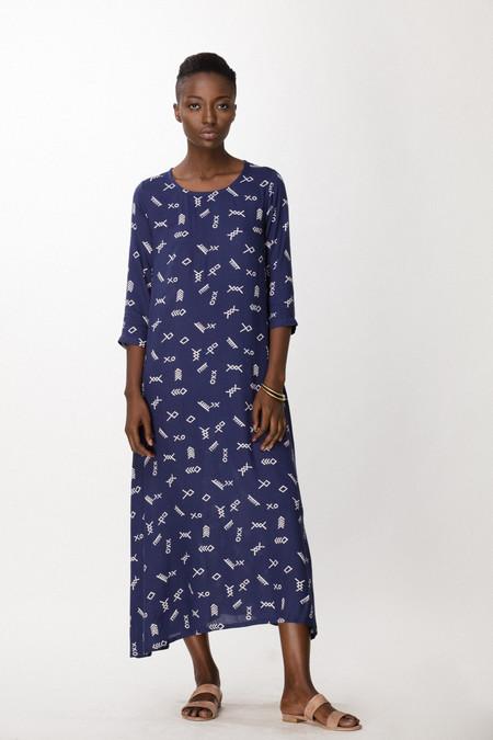 Osei-Duro Nima Dress in Cobalt Jot