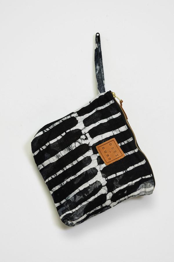 Osei-Duro Stibio Pouch in Black Chalk