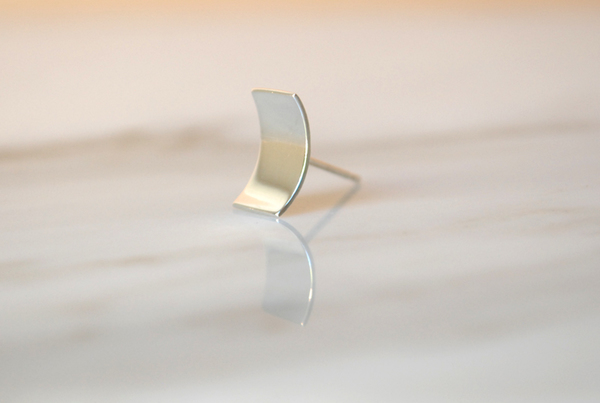 Kristen Elspeth Small Blade Moon Studs