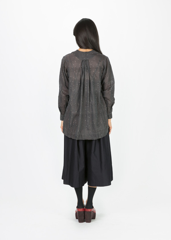Pero Speckle Print Pinched Blouse