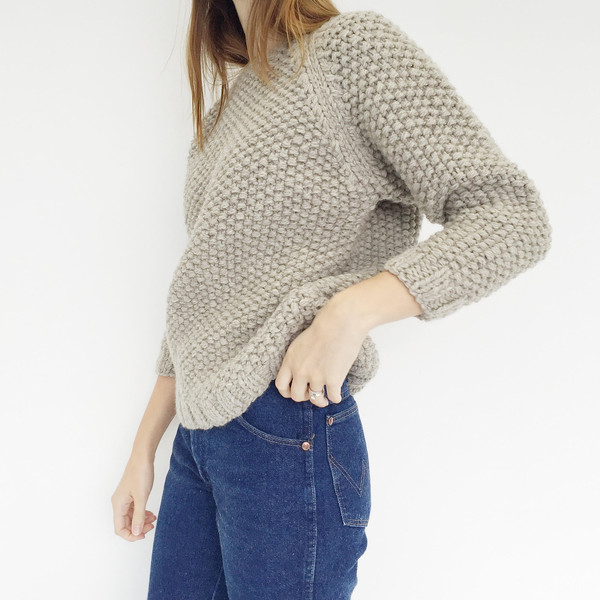 Han Starnes Light Grey Andean Sweater