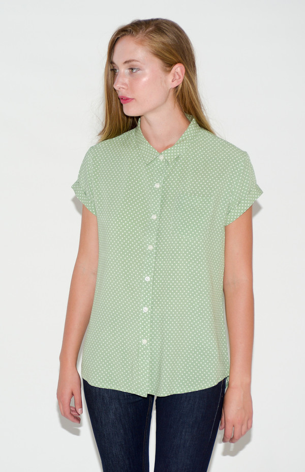 "Bridge & Burn ""Bea"" Short Sleeve Polka Dot Shirt"