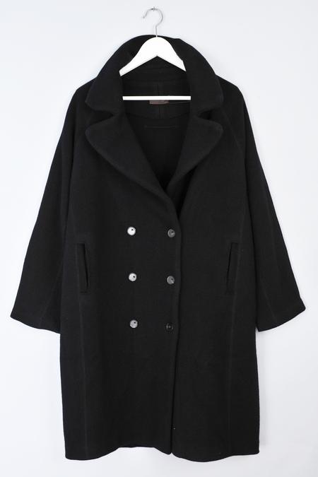 Black Cashmere Martel Coat by Oyuna