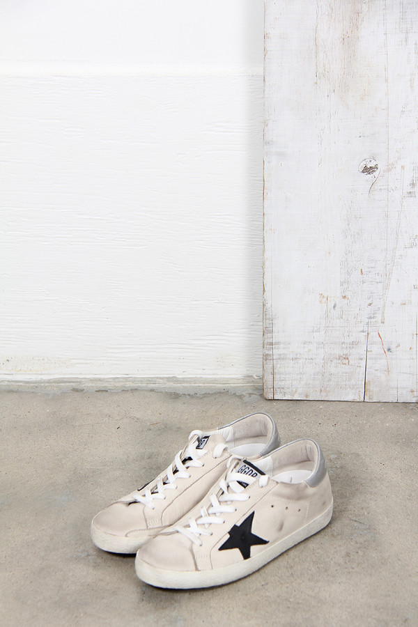 Golden Goose SUPER STAR SNEAKER IN NUBUCK LEATHER AND LEATHER STAR