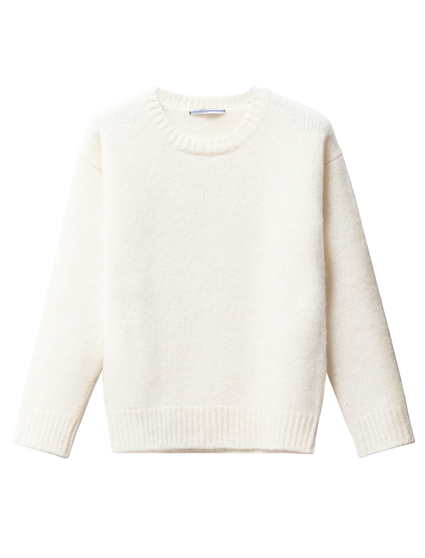 Cristaseya Womens Shetland Sweater White