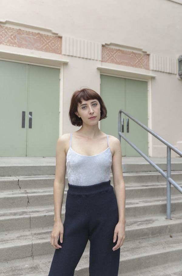 Baserange Emily Bodysuit in Silver Velour