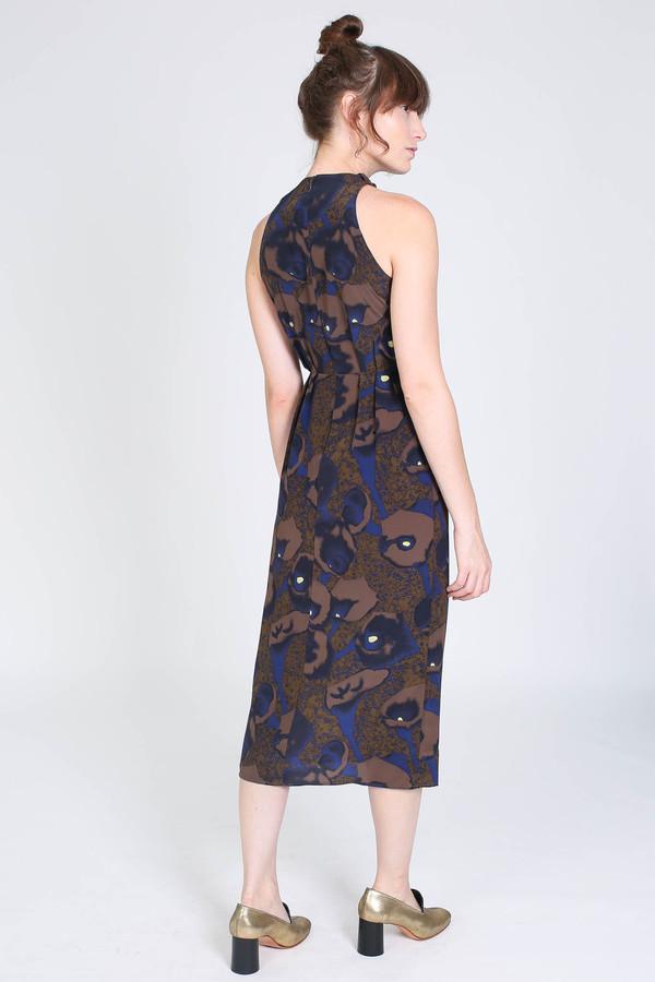 No.6 Store Cecilia cutaway dress in olive calla