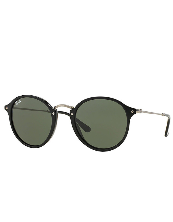 Ray-Ban Round Fleck Sunglasses Black