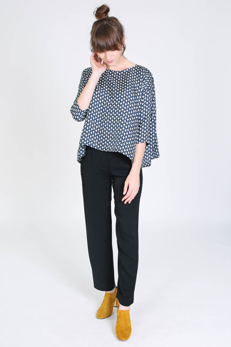 Creatures of Comfort Romy top in herrend print