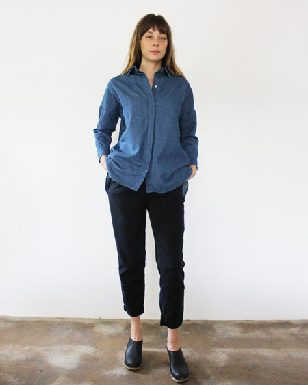 Esby STELLA L/S BUTTON DOWN - DENIM