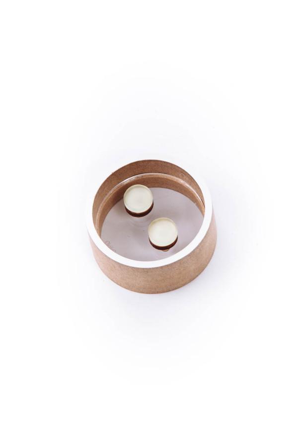 OkiikO Asorti Stud Earrings (Large Off White Circle )