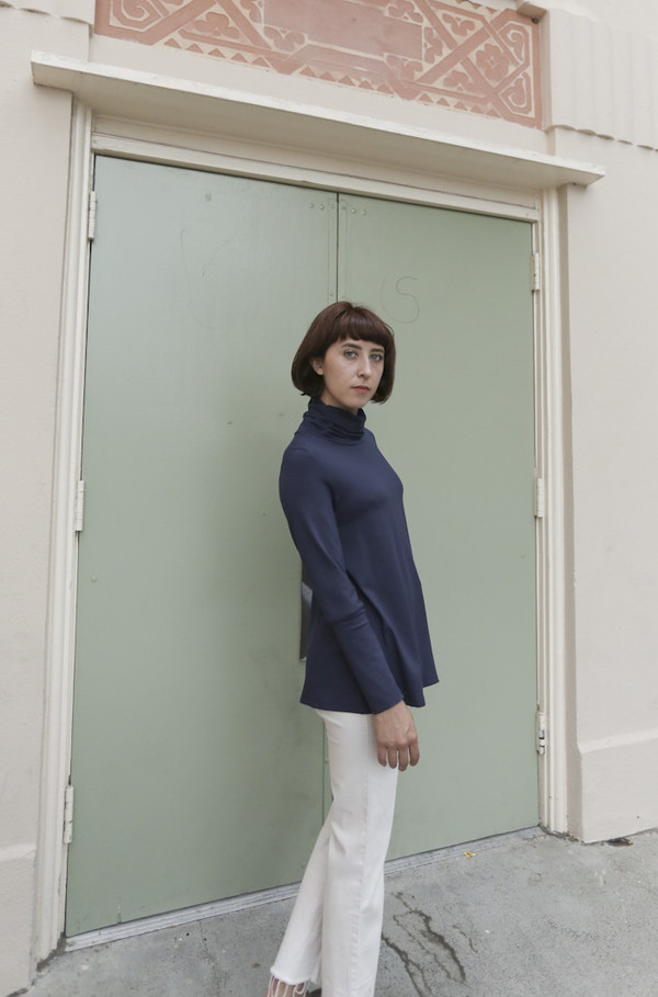 Wolcott : Takemoto Hayes Turtleneck in Midnight