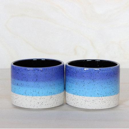 Lindsey Hampton Stack Mug ~ blue/black